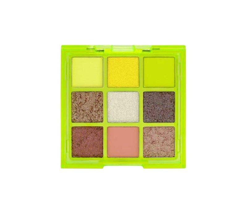 W7 Cosmetics Vivid Pressed Eyeshadow Palette Glowin Green
