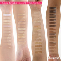 Makeup Revolution Conceal & Hydrate Foundation F16.5