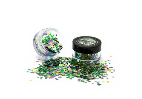 PaintGlow Bio Degradable Blends Chunky Loose Glitter Rain Forest