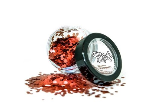 PaintGlow Bio Degradable Chunky Loose Glitter Poppy