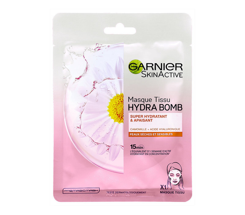 Garnier Skincare SkinActive Face Hydra Bomb Camomille Tissue Mask