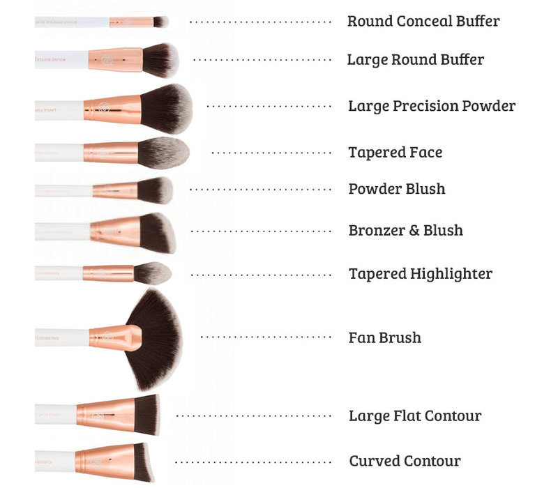 Boozyshop Rose Gold 24 pc Deluxe Makeup Brush Set
