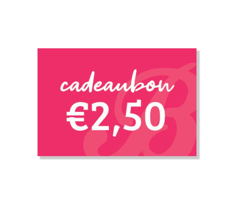 Boozyshop Cadeaubon BE 2,50