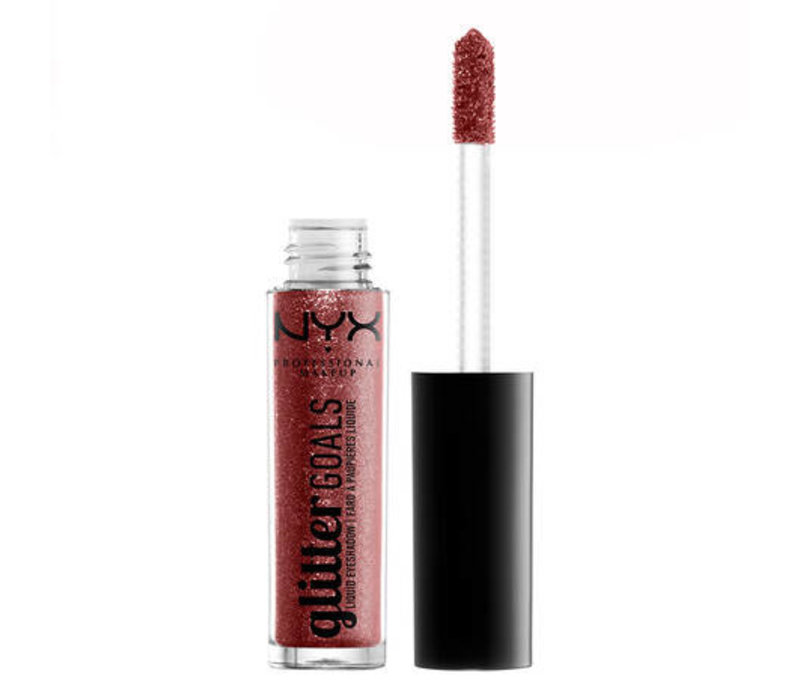NYX Professional Makeup Glitter Goals Liquid Eyeshadow Poppy Fields
