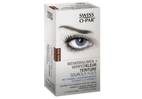 Swiss O-Par Wenkbrauw- en wimperkleur Bruin