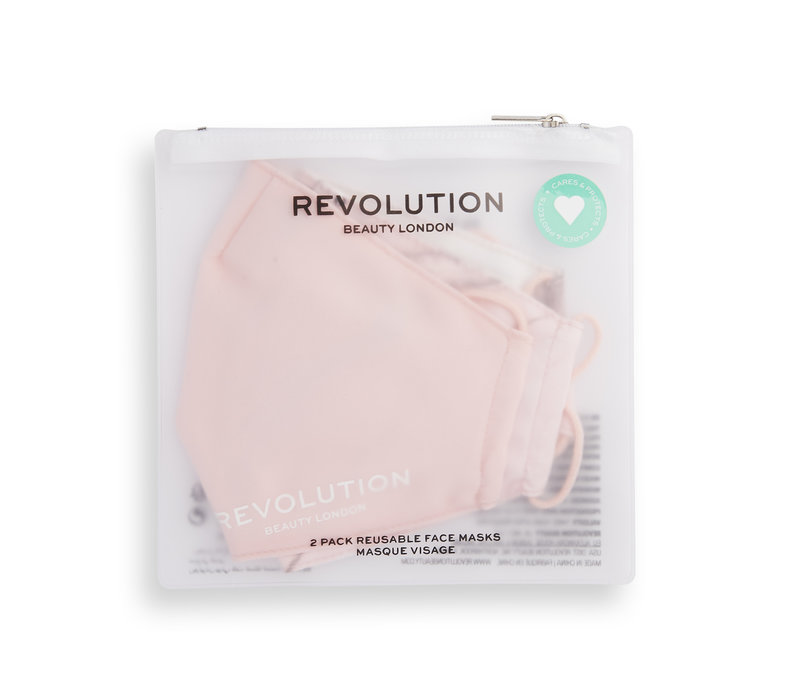 Makeup Revolution 2 Pack Face Mask Set Pink