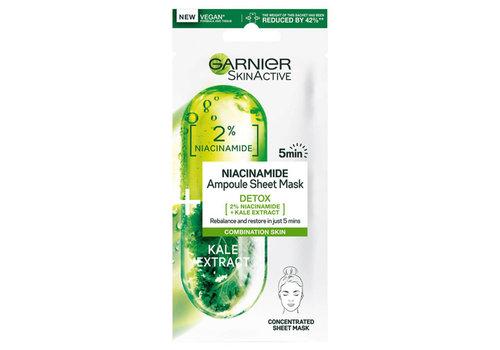 Garnier Skincare Ampul Sheet Mask Kale & Niacinamide