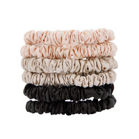 W7 Cosmetics Silky Knots Hair Scrunchies 6 pcs