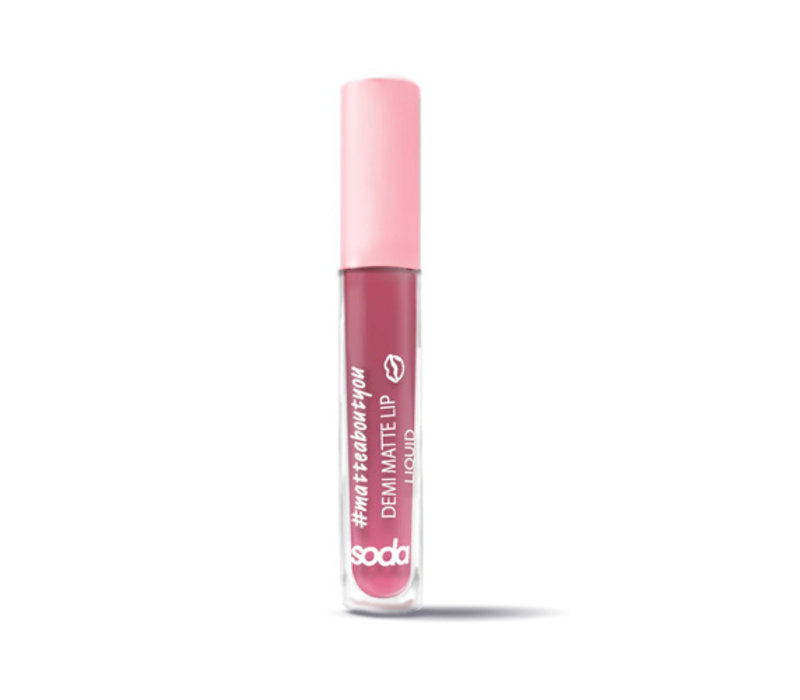 Soda Demi Matte Lip Liquid #mattaboutyou Pinky Promise