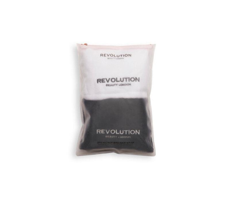 Revolution Hair Microfibre Hair Wrap Black & White 2pcs