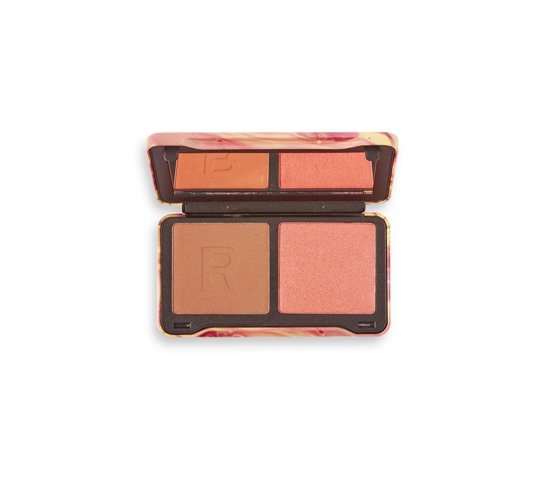 Makeup Revolution Neon Heat Dynamic Face Palette Peach Heat