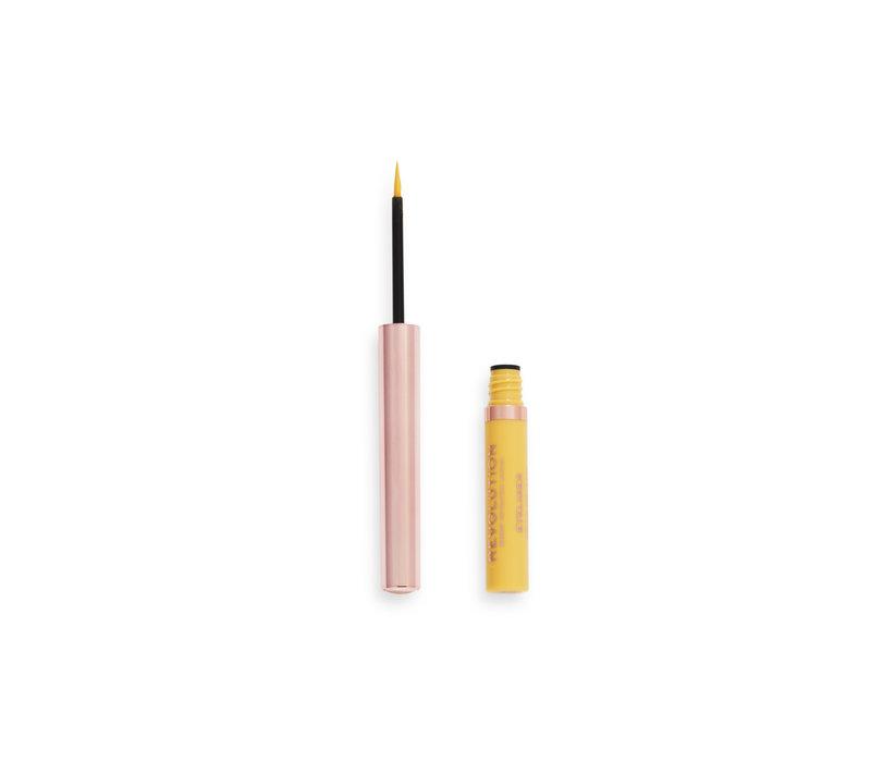 Makeup Revolution Neon Heat Coloured Liquid Eyeliner Lemon Yellow