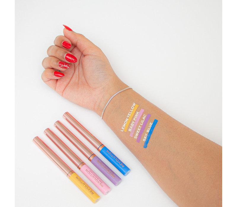 Makeup Revolution Neon Heat Coloured Liquid Eyeliner Sky Blue