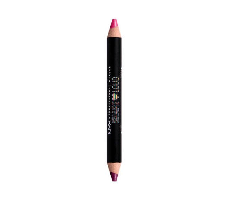 NYX Professional Makeup Shape Loud Matte Duo Lip Liner It's A Lewk