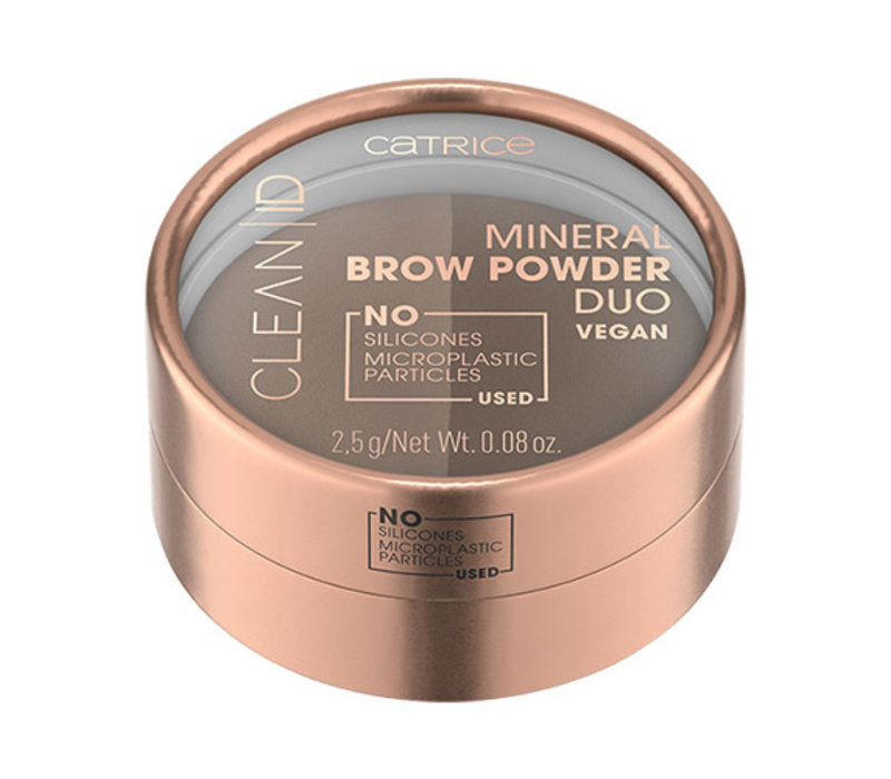 Catrice Clean ID Mineral Brow Powder Duo 010