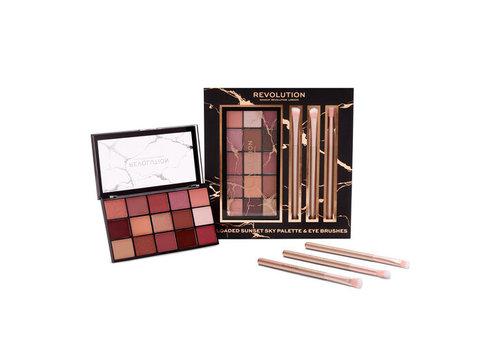 Makeup Revolution Reloaded Sunset Sky Palette & Eye Brushes