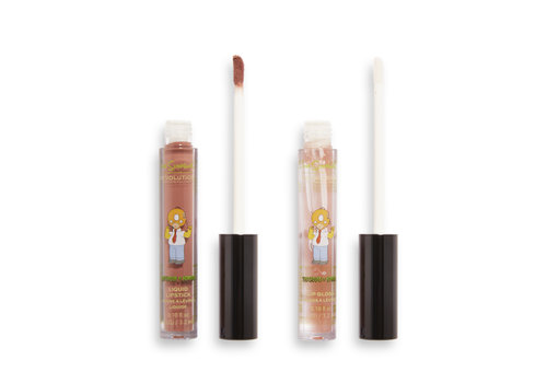 Makeup Revolution x The Simpsons Treehouse Of Horror Collection Lip Kit Mmm Forbidden Donut