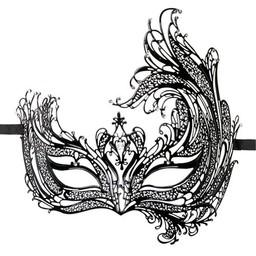 Easytoys Fetish Collection Open Venetiaans Masker - Zwart