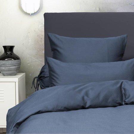Heckett & Lane Dekbedovertrek Satijn Puntini Steel Blue