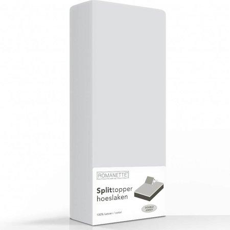 Romanette Split-Topper Hoeslaken Double Jersey Silver