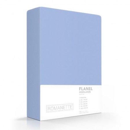 Romanette Hoeslaken Flanel Bleu