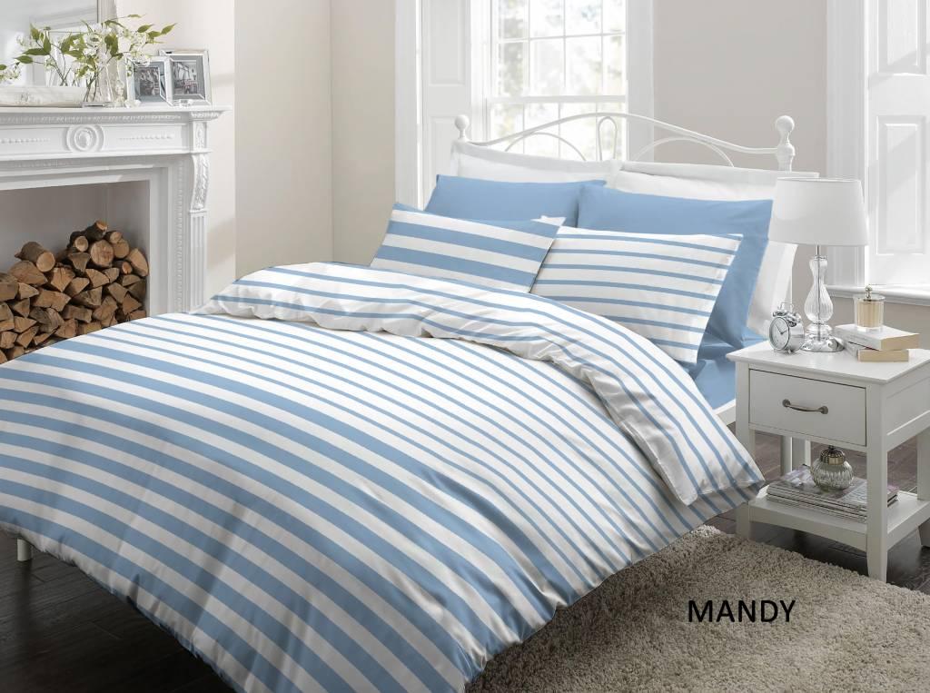 Cottons Dekbedovertrek Katoen Mandy Blue
