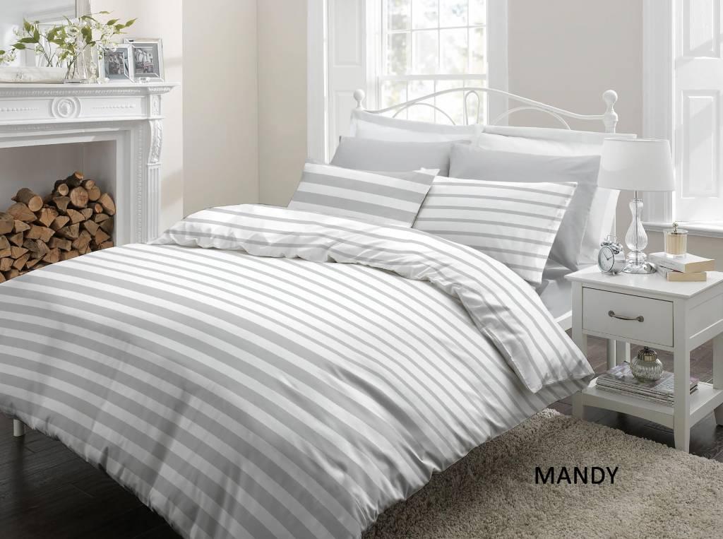 Cottons Dekbedovertrek Katoen Mandy Grey