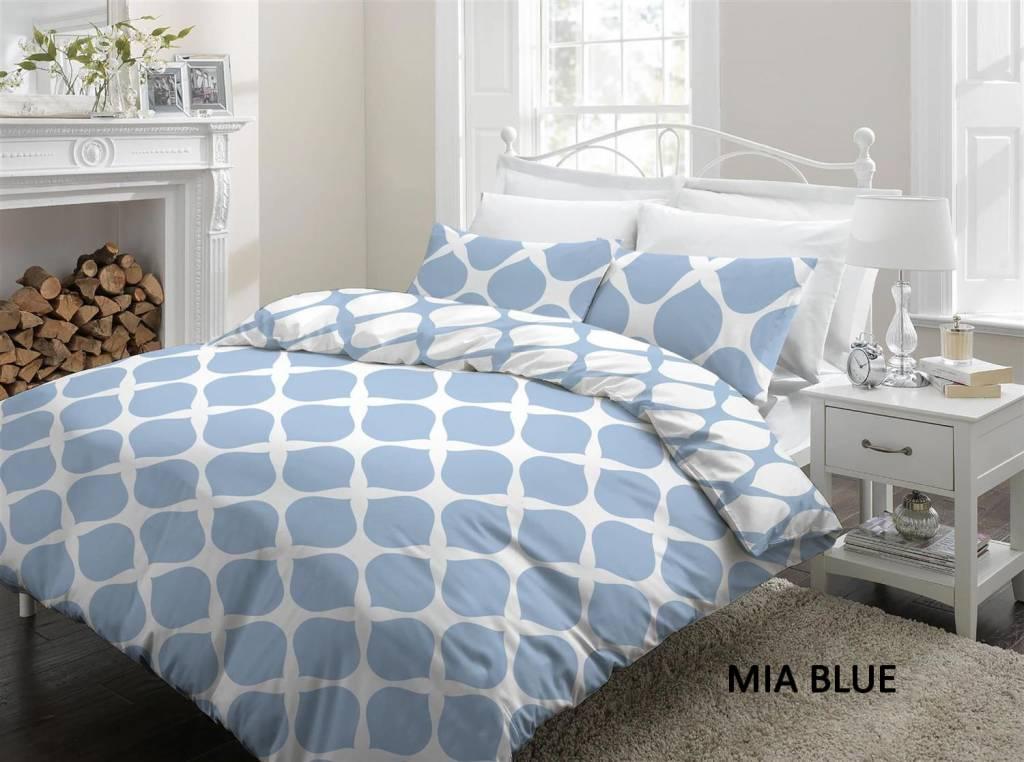 Cottons Dekbedovertrek Katoen Mia Blue