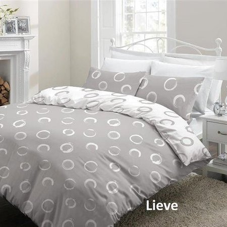 Cottons Dekbedovertrek Flanel Lieve Grey