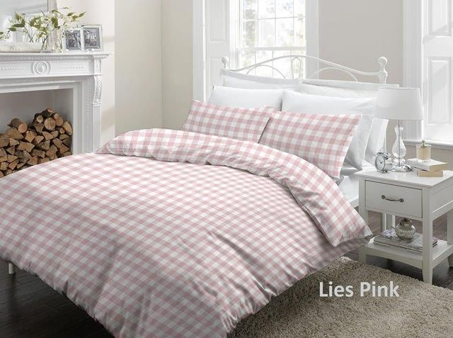 Cottons Dekbedovertrek Flanel Lies Pink