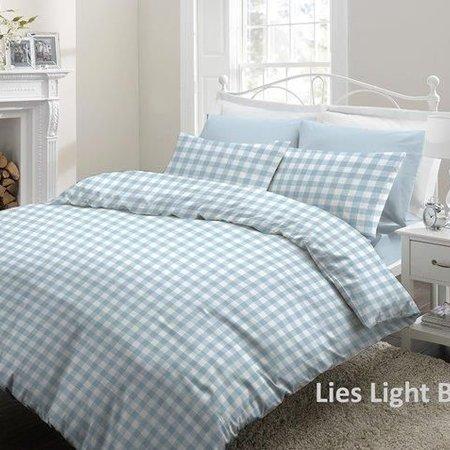 Cottons Dekbedovertrek Flanel Lies Light Blue