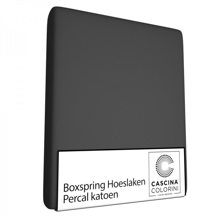 Cascina Colorini Hoeslaken Hoek 45cm Percale Antraciet