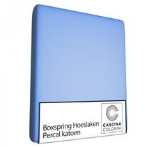 Hoeslaken Hoek 45cm Percale Bleu