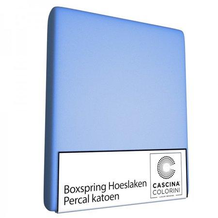 Cascina Colorini Hoeslaken Hoek 45cm Percale Bleu