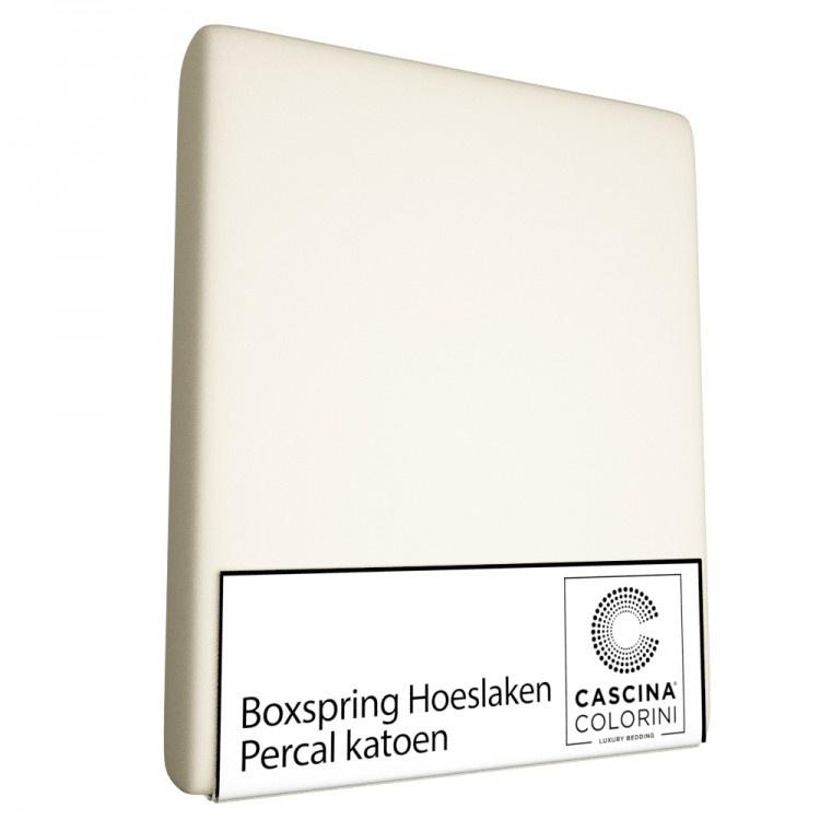 Cascina Colorini Hoeslaken Hoek 45cm Percale Ivoor