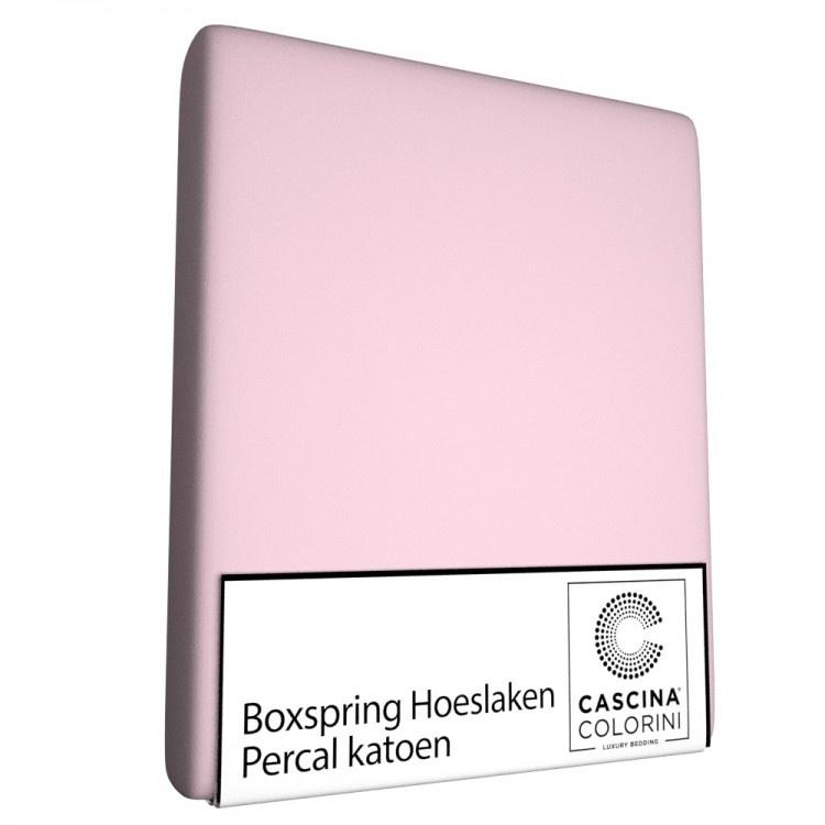 Cascina Colorini Hoeslaken Hoek 45cm Percale Rose