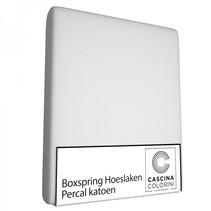 Hoeslaken Hoek 45cm Percale Silver
