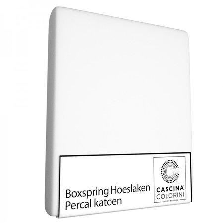 Cascina Colorini Hoeslaken Hoek 45cm Percale Wit