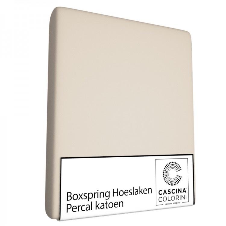 Cascina Colorini Hoeslaken Hoek 45cm Percale Sand