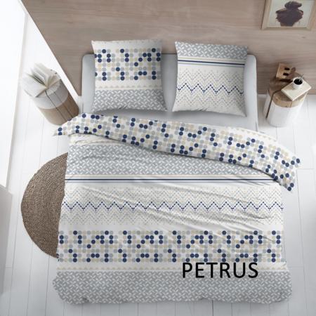 Cottons Dekbedovertrek Katoen Petrus Blue