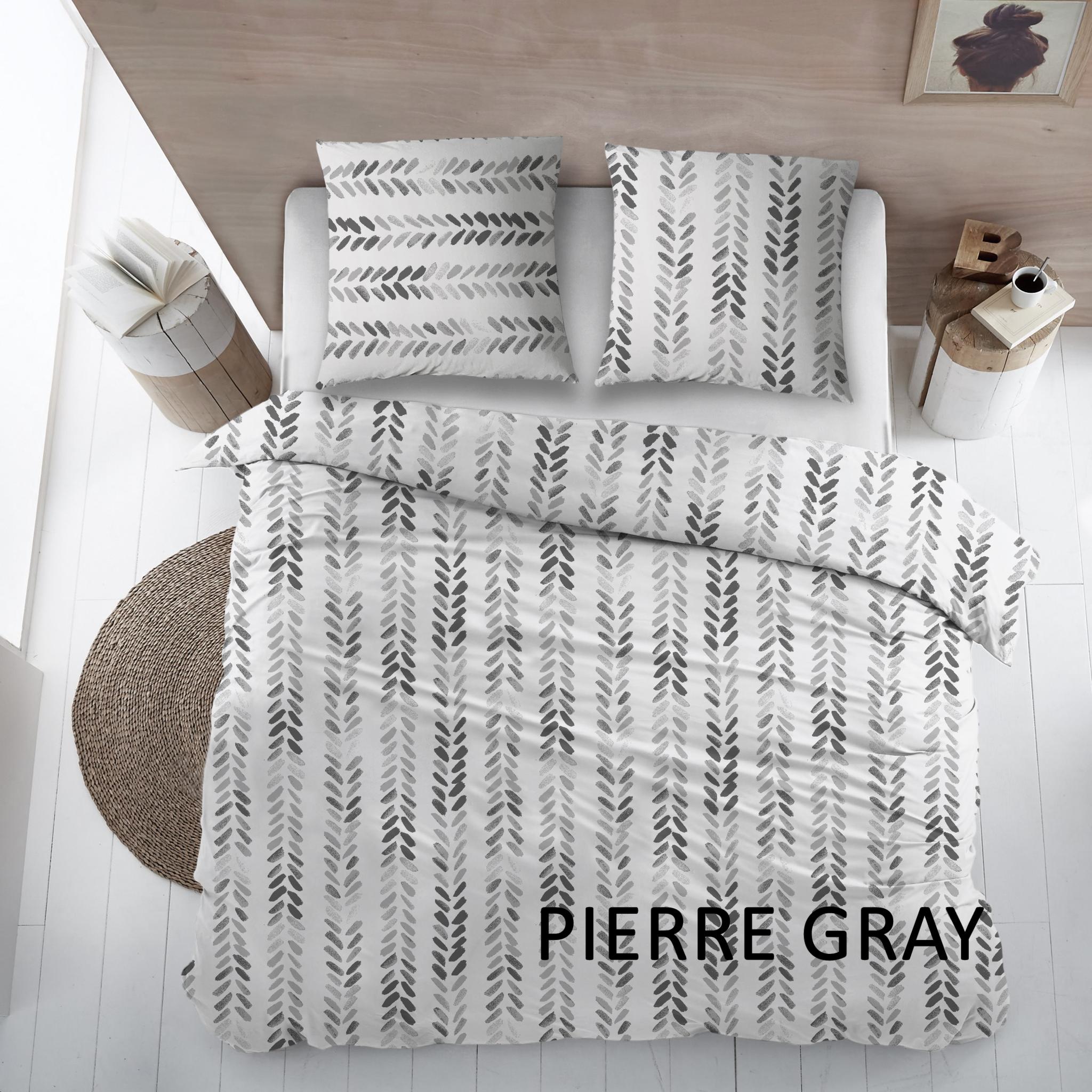 Cottons Dekbedovertrek Katoen Pierre Gray