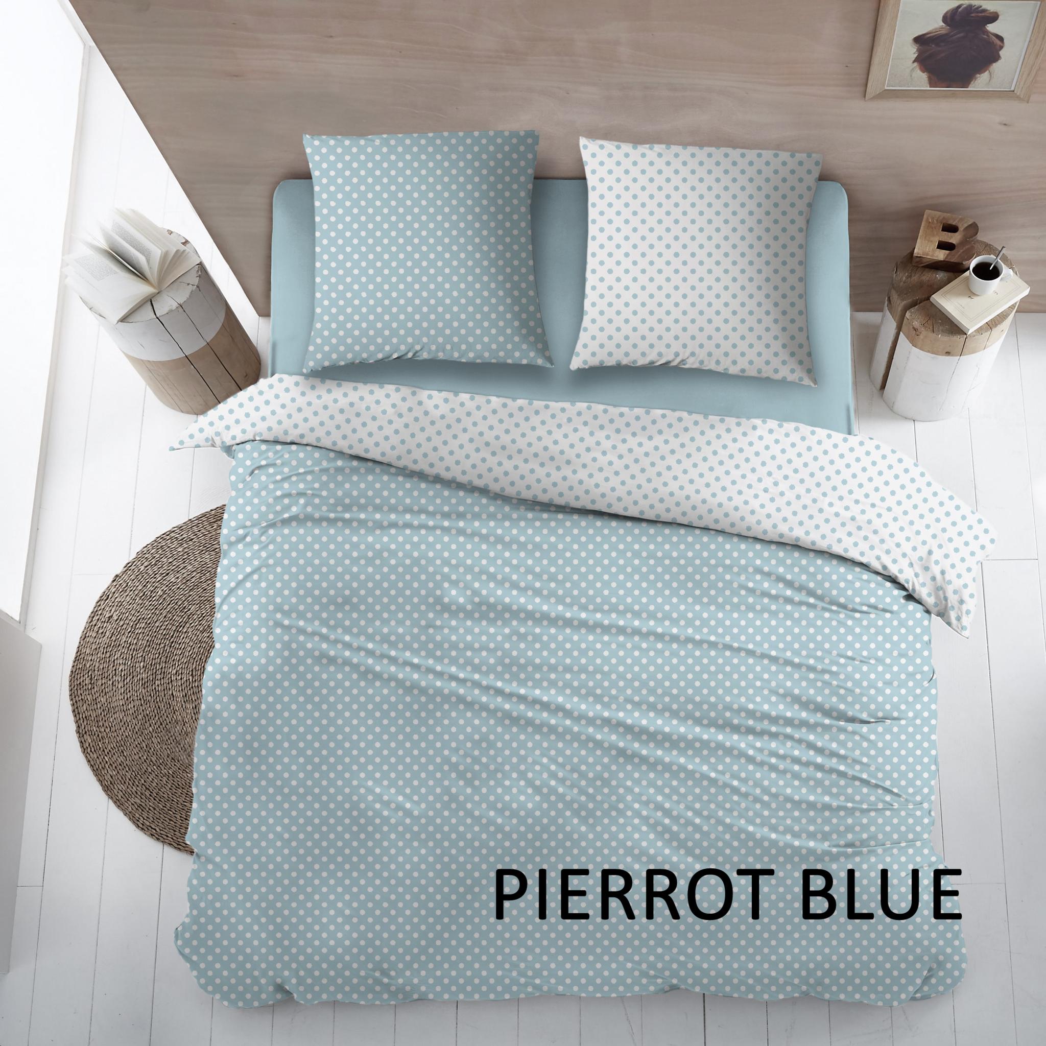 Cottons Dekbedovertrek Katoen Pierrot Blue