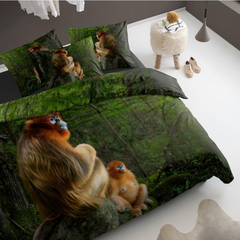 Damai Dekbedovertrek Katoen Snub-Nosed Monkey