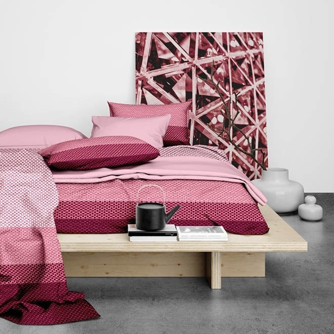 Satin d'Or Dekbedovertrek Satijn Ibisco Rose Rood