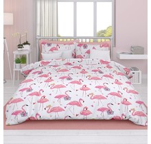 Dekbedovertrek Satijn Flamingo
