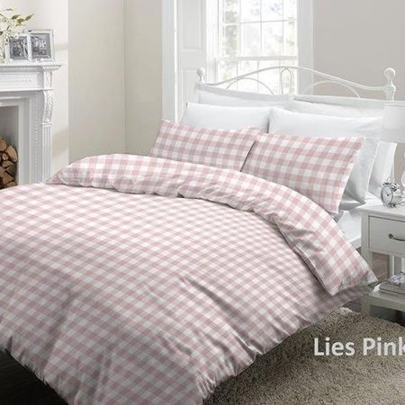 Cottons Lakenset Flanel Lies Pink