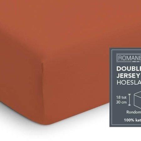Romanette Hoeslaken Double Jersey Terra