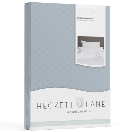 Heckett & Lane Dekbedovertrek Satijn Puntini Colonial Blue