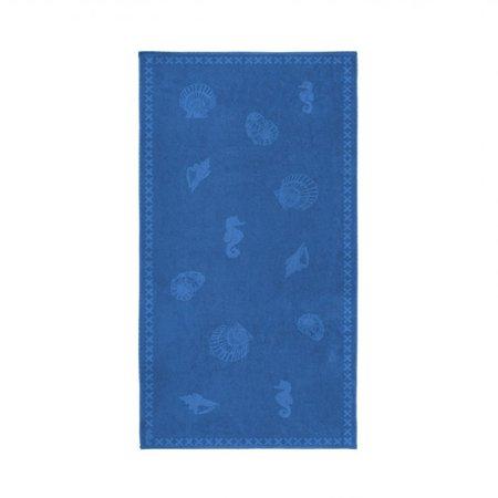 Seahorse Strandlaken Shells Brilliant Blue