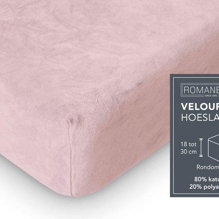 Romanette Hoeslaken Velours Blush